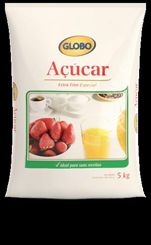 Açúcar Globo Extra Fino Especial (5kg)