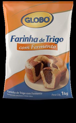 Farinha de Trigo Globo com Fermento 1kg