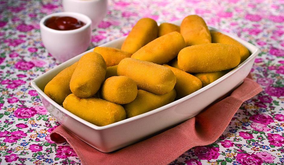 Croquete de abóbora com queijo
