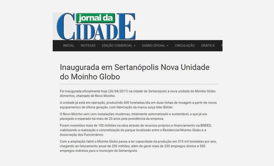 Inaugurada em Sertanópolis Nova Unidade do Moinho Globo – Jornal da Cidade