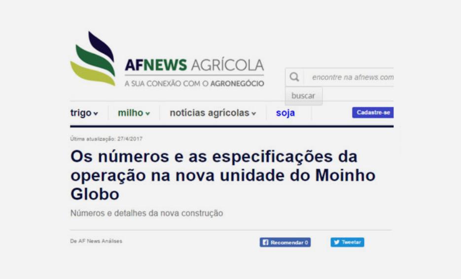 Os números e as especificações da operação na nova unidade do Moinho Globo – AF News