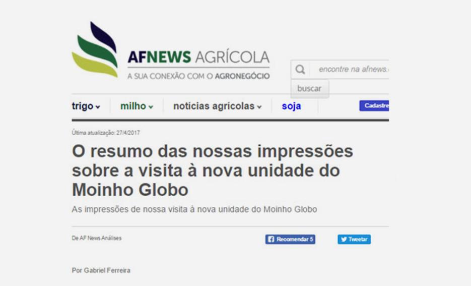 O resumo das nossas impressões sobre a visita à nova unidade do Moinho Globo – AF News