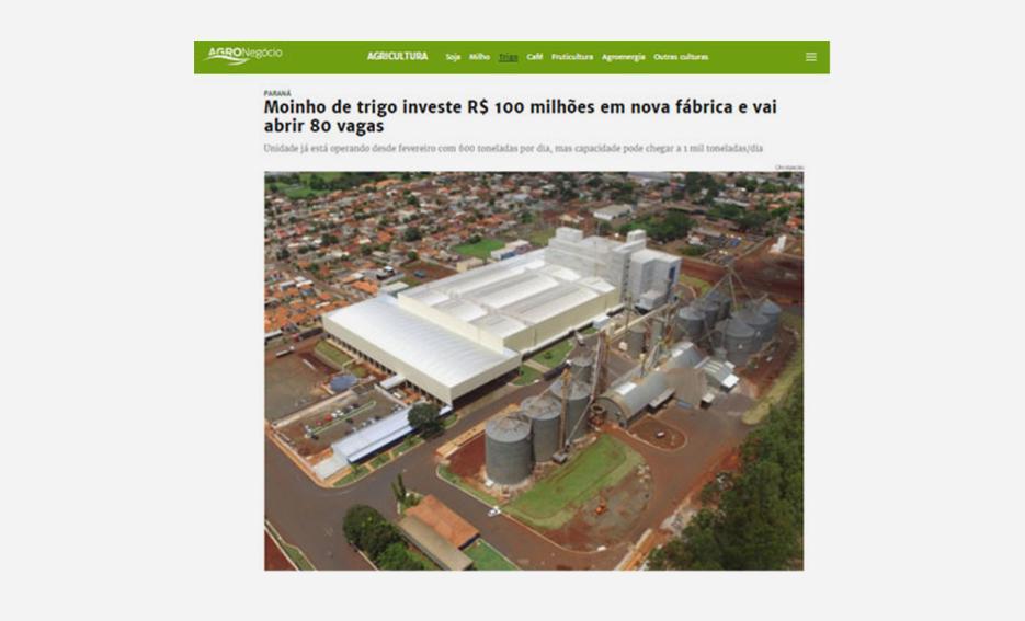 Moinho de trigo investe R$ 100 milhões em nova fábrica e vai abrir 80 vagas – Gazeta do Povo