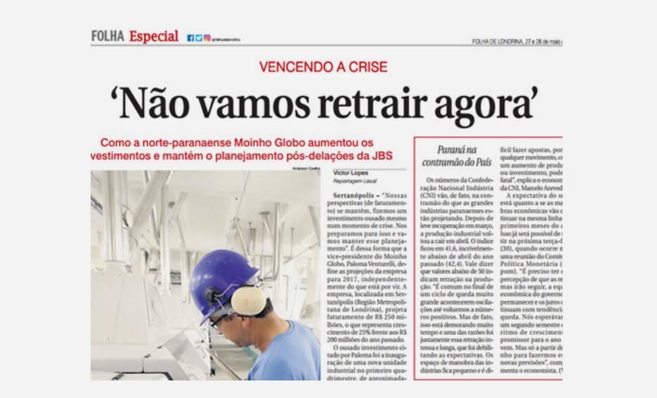 """Vencendo a crise: """"Não vamos retrair agora"""" – Folha de Londrina"""