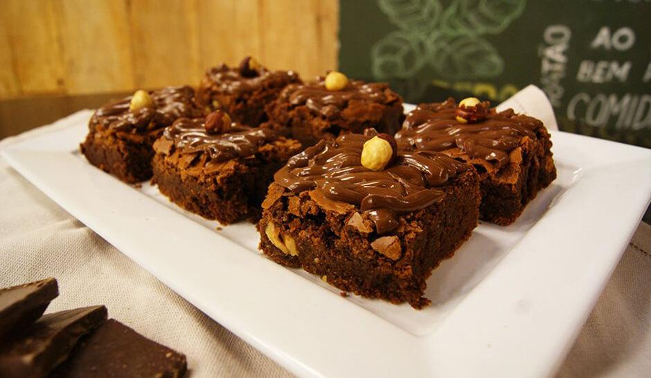Brownie Trufado com Creme de Avelã