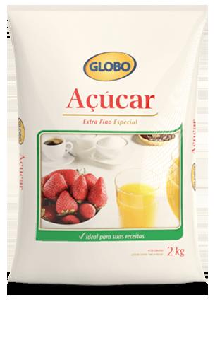Açúcar Globo Extra Fino Especial (2kg)